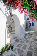 fototapeta cicha grecka uliczka