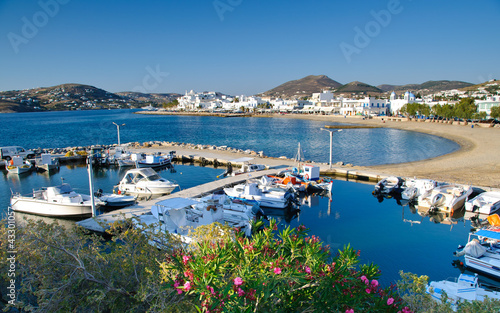 Port in Parikia on Paros island in Cyclades, Greece Wallpaper Mural