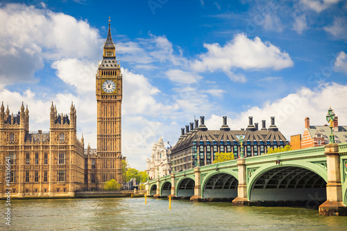 Photo sur Toile Londres Big Ben and Houses of Parliament