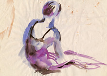 Ballerina, Water Colors Technique