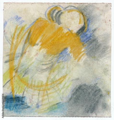 Obrazy Edgar Degas  ballerina-crayons-technique