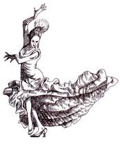 Classical Dancer Dances. Hand ...