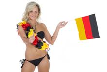 Fan Für Deutschland Zeigt Ist Optimistisch
