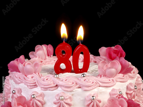 Fotografia  Birthday-anniversary cake with candles  Nr. 80
