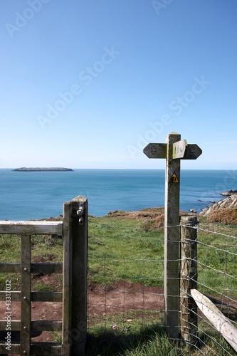 Cadres-photo bureau Cote Coastal path sign post