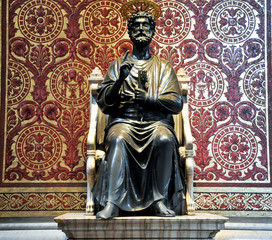 Fototapeta Statue of St. Peter. Vatican.