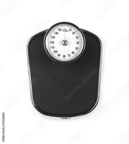 Obraz na płótnie Retro weight scale isolated on white background