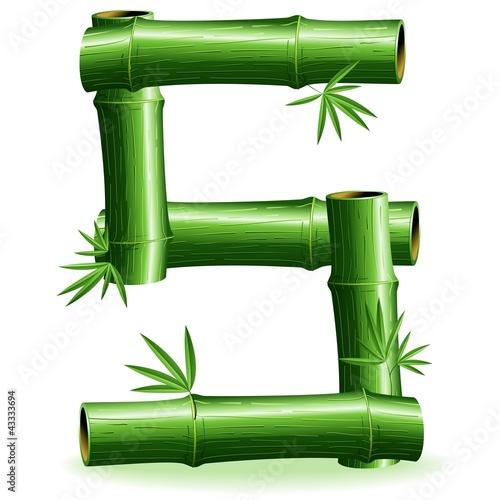 Foto auf AluDibond Ziehen Bambù Lettera S-Bamboo Logo Sign Letter S-Vector