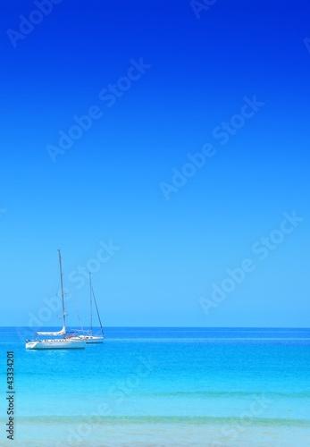 Poster Zanzibar paysage d'été