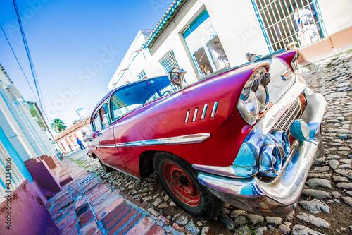 Türaufkleber Autos aus Kuba voiture ancienne de cuba