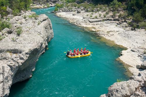 Rafting in the Green Canyon, Alanya, Turkey Fototapet