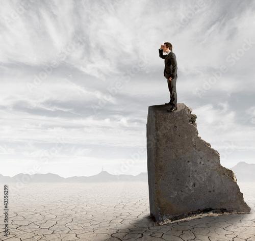 Fotografia  Businessman in search of work
