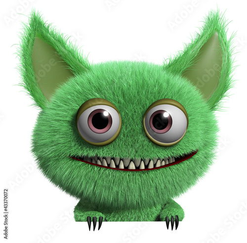 Foto op Aluminium Sweet Monsters furry monster