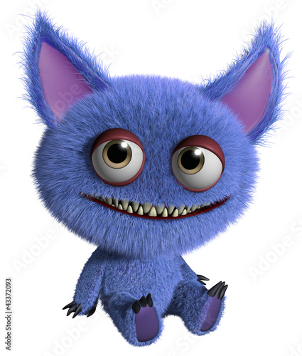 Tuinposter Sweet Monsters furry gremlin
