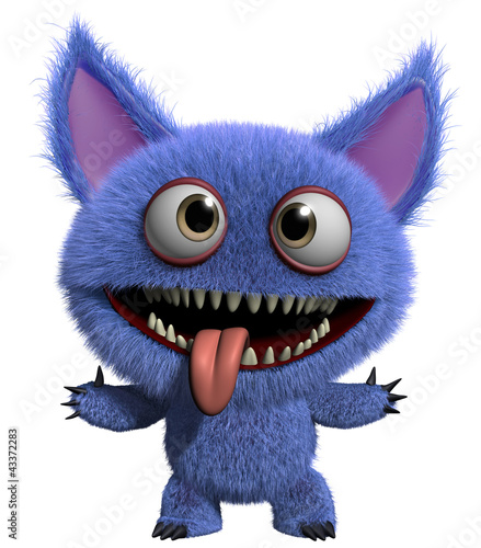 Fotobehang Sweet Monsters furry gremlin