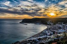 Sunset In Sesimbra, Portugal
