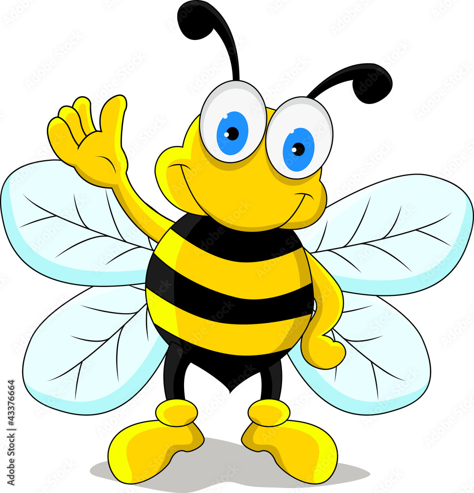 Fototapety, obrazy: funny bee cartoon character