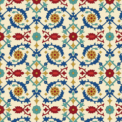 Panel Szklany Ornamenty Arabic seamless pattern