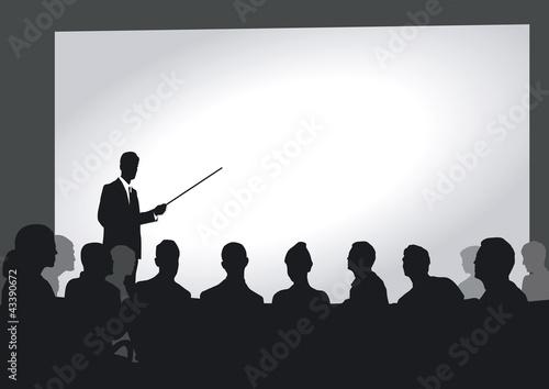 Präsentation im Auditorium Canvas Print