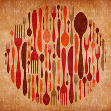 Abstract Cutlery Vintage Background