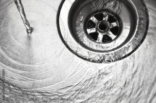 Fotografía  Stainless steel sink plug hole