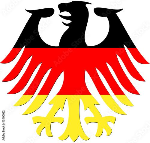 Foto  Bundesadler in schwarz rot gold