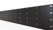 Black Office Cabinets 1