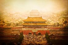 Forbidden City Vintage View, Beijing, China