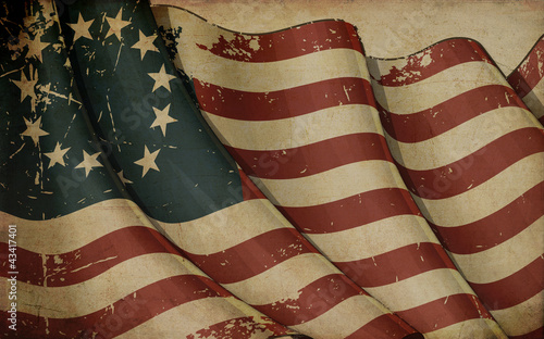 Fotografering USA Betsy Ross Old Paper