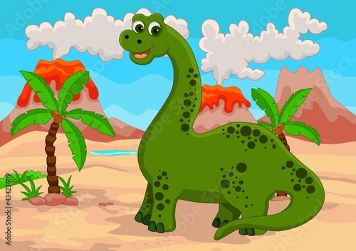funny cartoon dinosaur