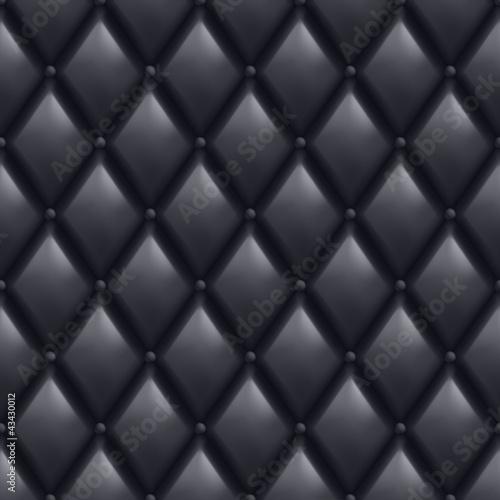 Deurstickers Leder Black Leather Background