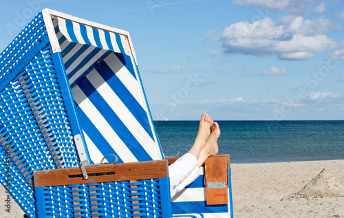 Foto-Leinwand - Entspannung am Meer - Relax at the Beach