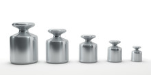 Row Of Calibration Weights Iso...