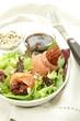 salmon and dry tomatos salad