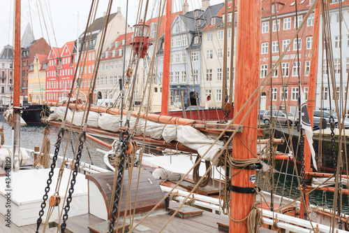 boats in Nyhavn Canvas Print