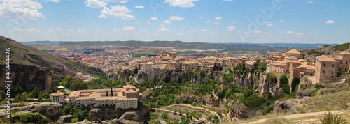 Panorama on Cuenca in Castille La Mancha, Spain.