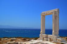 Door Of An Ancient Greek Teble In Island Naxos