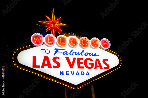 Foto op Aluminium Las Vegas Las Vegas Sign a night
