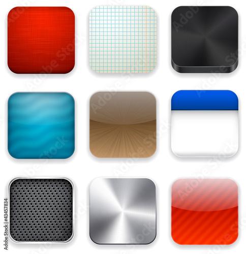 Poster  Quadratische moderne app-Vorlage Symbole.