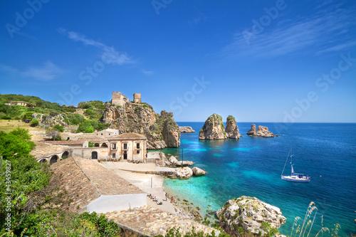 Foto-Kissen - Tonnara di Scopello, Sicily, Italy (von mRGB)