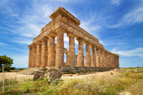 Printed kitchen splashbacks Athens Temple ruins, Selinunte, Sicily, Italy