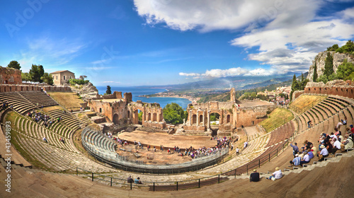 Photo  Griechisches Theater in Taormina, Sizilien