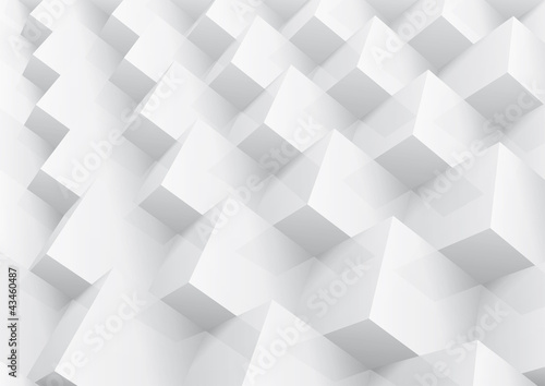 Abstract geometric background stacked cube, change colors