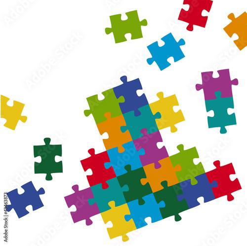 Naklejka na meble Puzzleteile Hintergrund farbig
