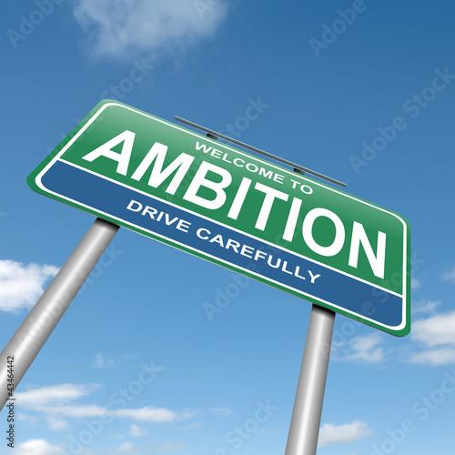 Valokuva  Ambition concept.