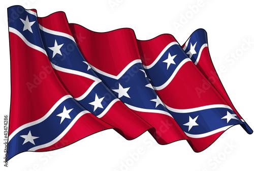 Photo Confederate Rebel flag