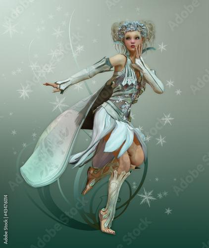 La pose en embrasure Fées, elfes Snowflake Pixie
