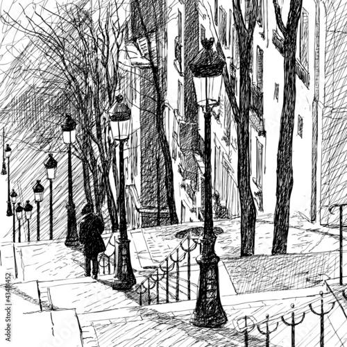 Montmartre in Paris - 43481452