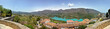 Guadalest in Spain. Panorama of the castle and the mountains.