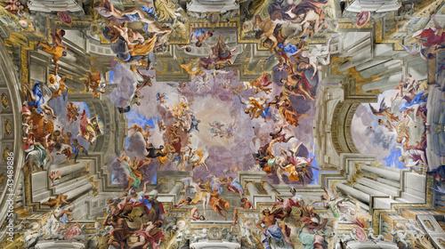Fotografie, Obraz  Rome - roof of Chiesa Sant Ignazio di Loyola - fresco